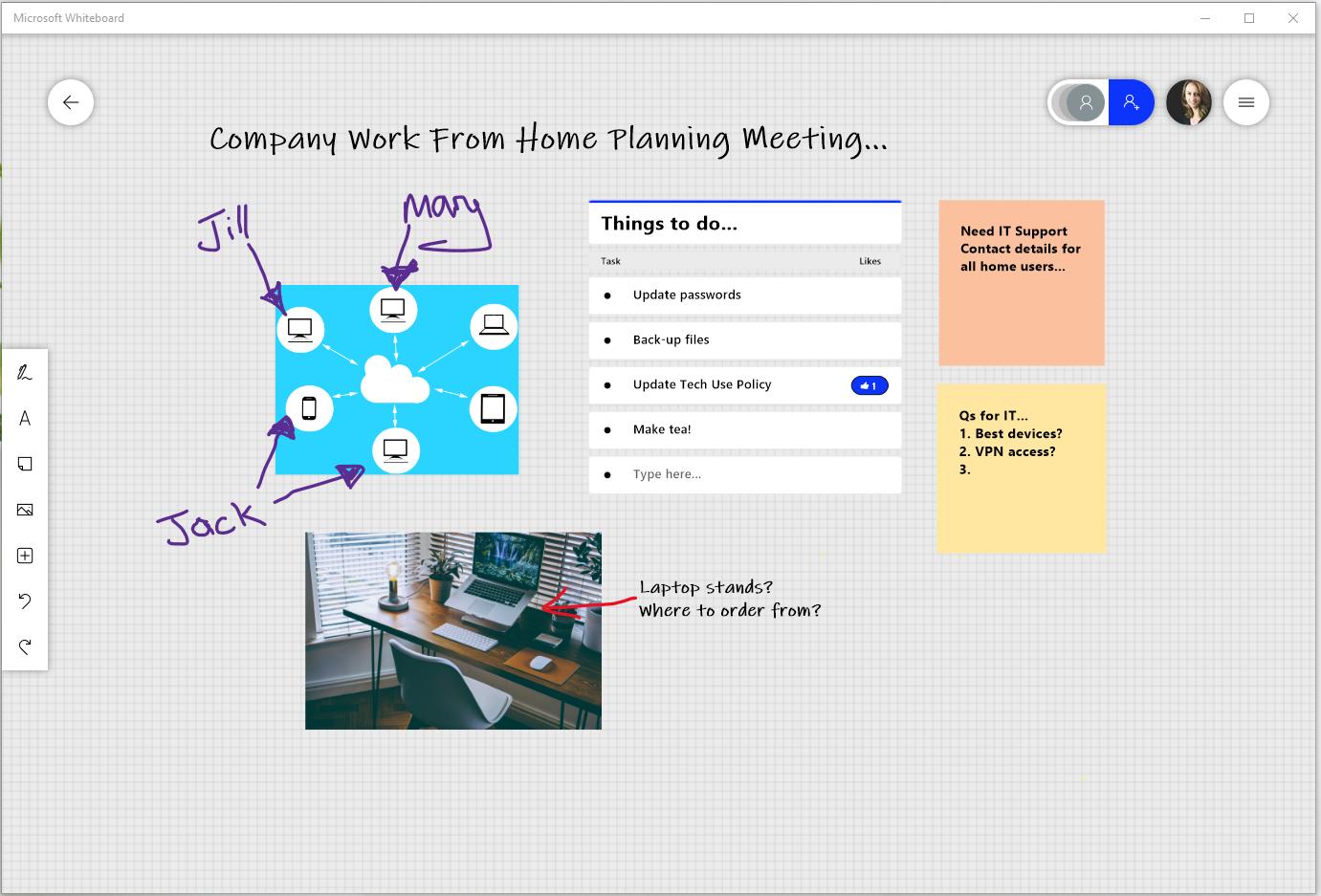 microsoft whiteboard screenshot